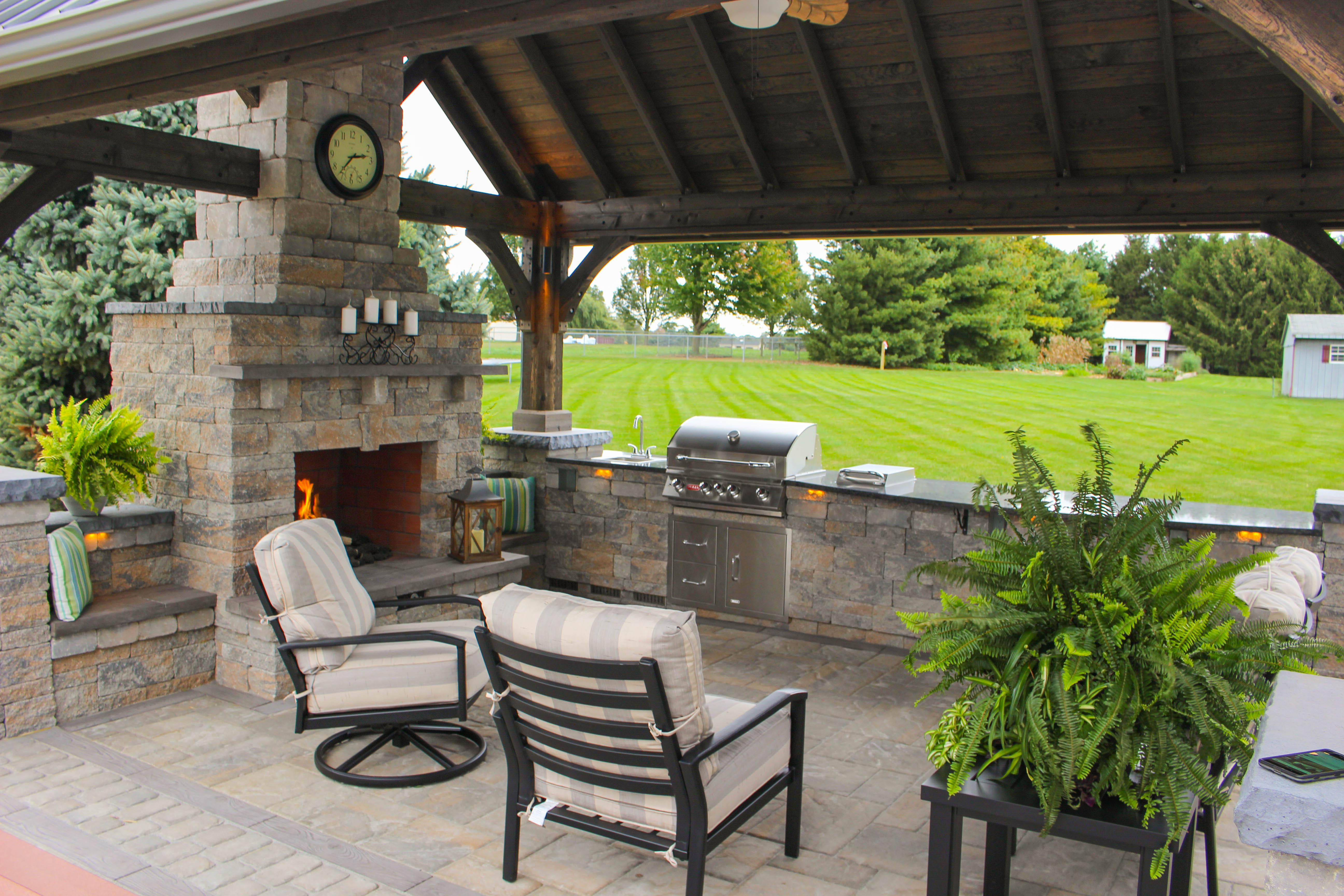 grill for outdoor kitchen how much is a island patio with pavilion | see the photos and get ...