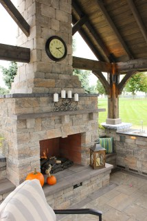 Outdoor Patio With Pavilion And