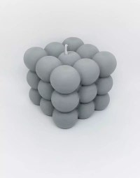 Grey Bubble Candle