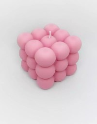 Pink Bubble Candle