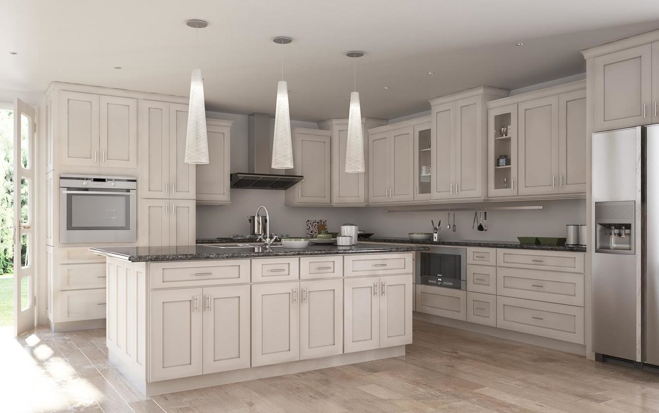 chocolate kitchen cabinets small lighting society shaker white with brushed glaze the