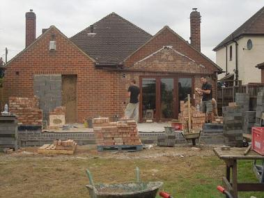 orangery extension preparations