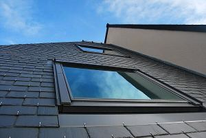 velux window in vaulted ceiling