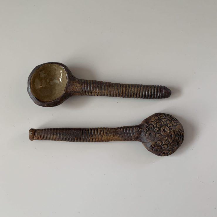Spoons, iron oxide