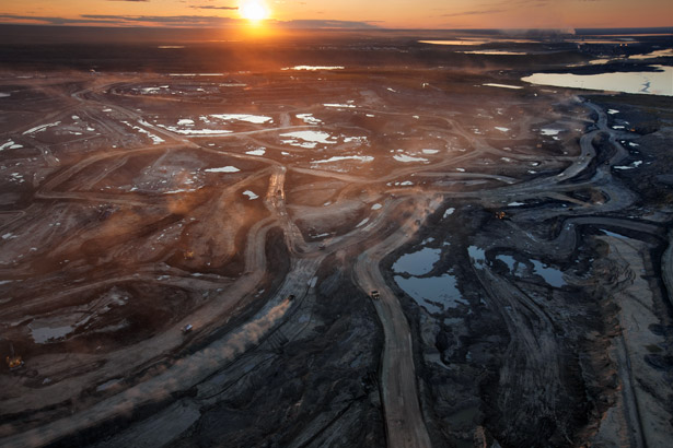A Canadian oil sands district