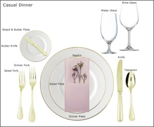 Table Setting Guides at our Party Rental store in San Jose CA | Equipment Guides at our Party