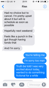 Finn's Cancellation Text