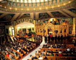 tilt shift of church vancouver