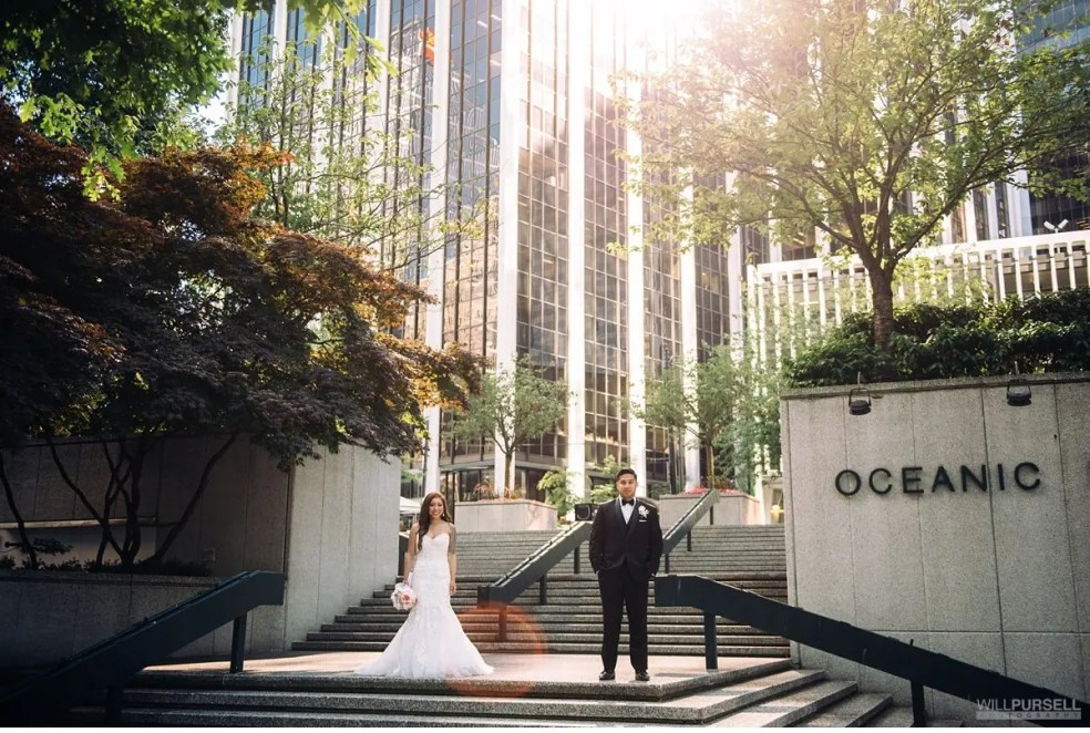 Vancouver downtown wedding
