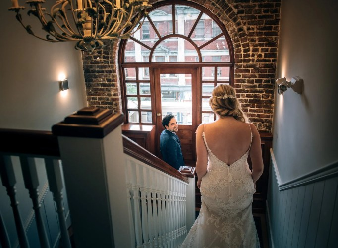 first look wedding heritage building vancouver