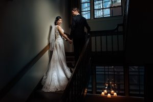 Vancouver Club wedding staircase