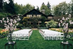 outdoor ceremony stanley park pavilion wedding