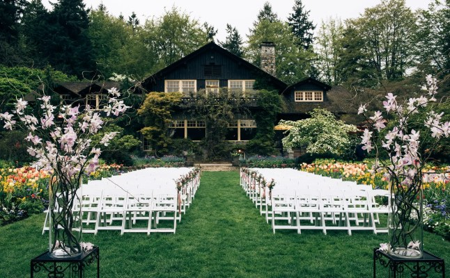 outdoor ceremony stanley park pavilion wedding