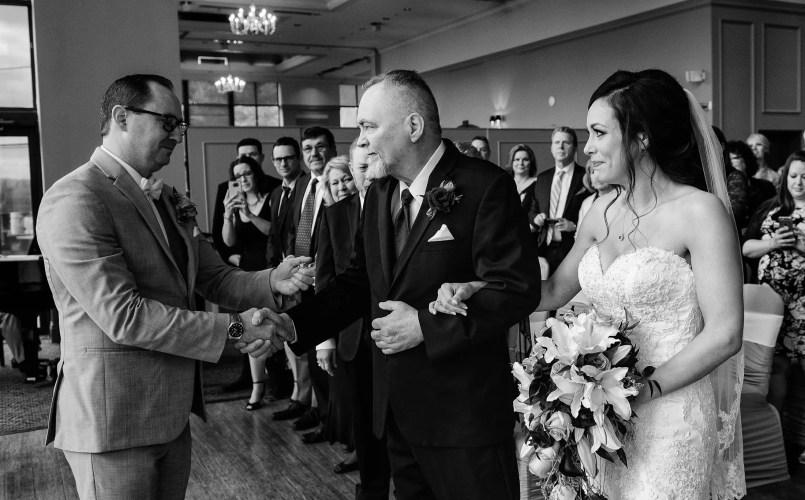 dad giving away daughter during wedding