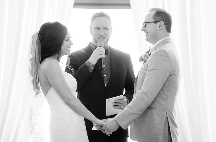 natrual light wedding ceremony