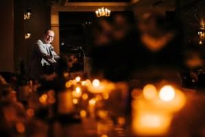 candelit wedding reception
