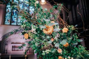 019 - tree florals wedding ceremony
