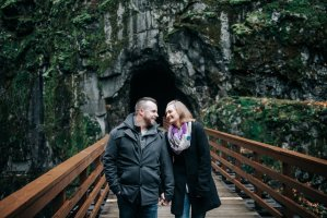 kettle valley trail engagement photos