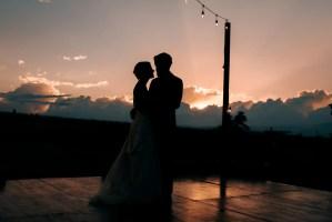 028 - wedding first dance outdoors sunset