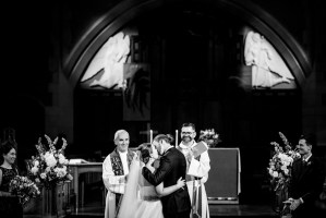 014 - wedding kiss St Andrew's Wesley Church