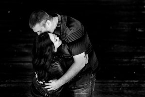006 - black and white engagement