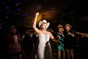 038 - bride cowboy hat