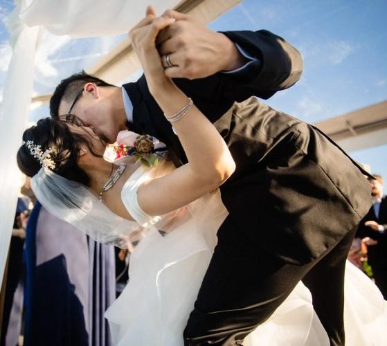 023 - first kiss wedding