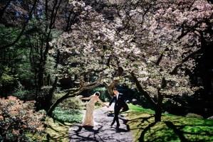 004 - fun cherry blossom wedding photos