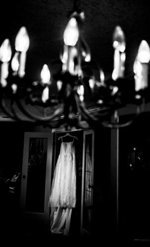 003 - wedding dress black and white