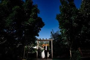 015 - secret garden ceremony first look