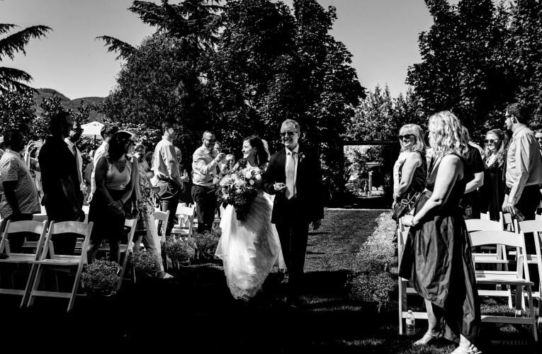 017 - garden wedding ceremony fraser valley