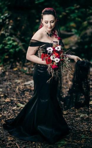 007 - rock and roll wedding black dress