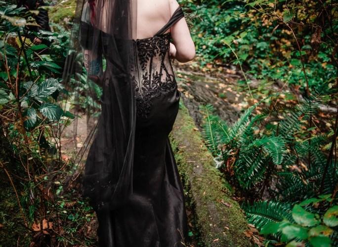 008 - black wedding dress