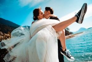008 - converse shoe wedding photo