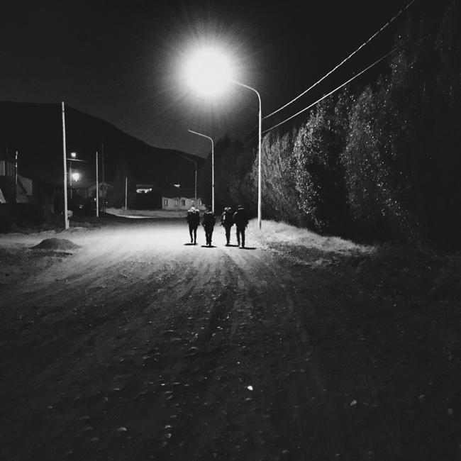 Backpackers in El Calafate