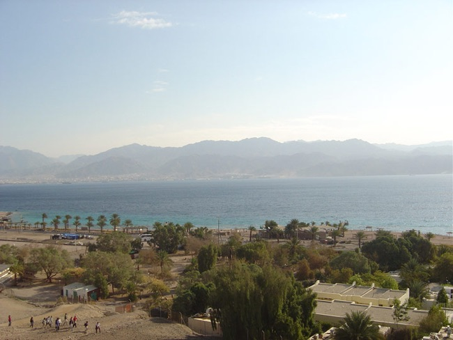 Eilat, on the Red Sea