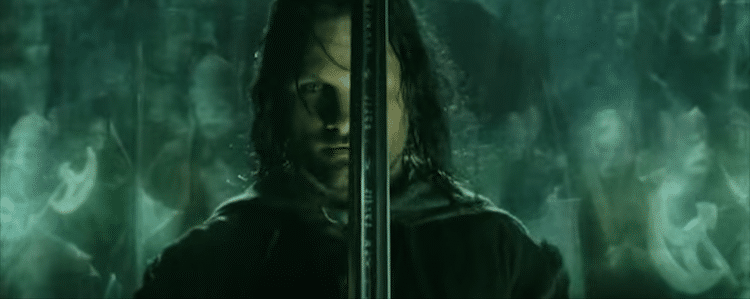 Aragorn and the dead