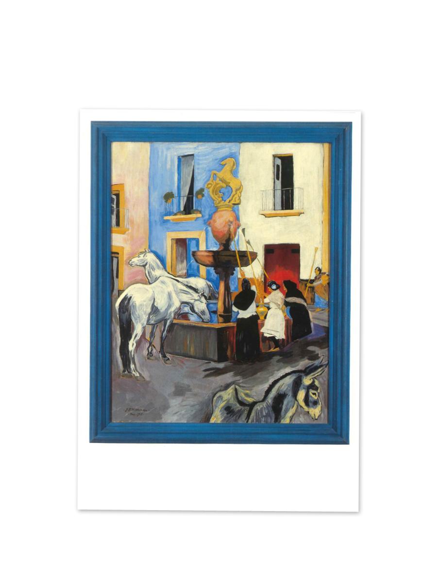 Hestebrønden i Cordoba Postkort Willumsens Museum