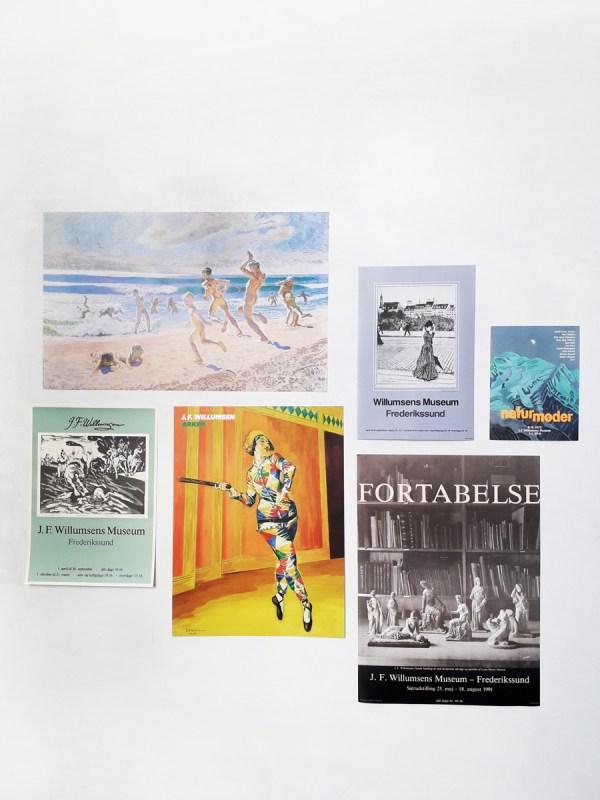 Interiørbillede Spadserende dame_Naturskræk_Harlekin Plakater Willumsens Museum