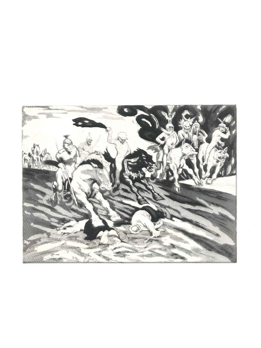 Invasionen 1917 Postkort Willumsens Museum