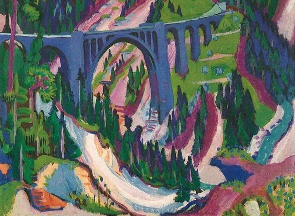 Ernst Ludwig Kirchner og Willumsen Bjerge
