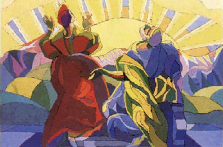 Paul Gadegaard. Komposition: El Greco, 1940. Olie på lærred, 103 x 145 cm. Solgt på Bruun Rasmussen Kunstauktioner 1998. Foto: Bruun Rasmussen Kunstauktioner