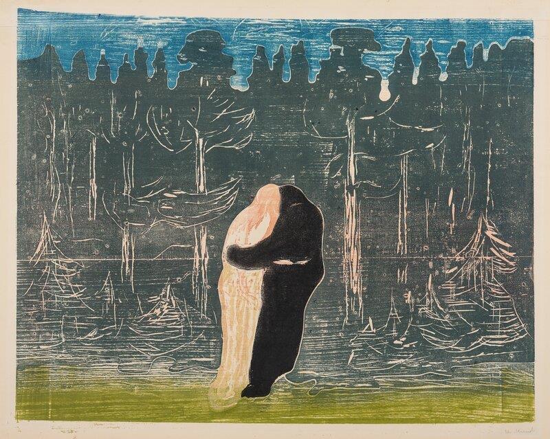 Edvard Munch. Mod skoven II, 1915. The Gundersen Collection, Norge