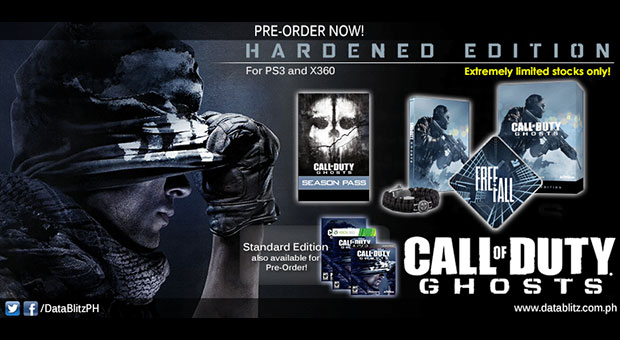 Datablitz Call Of Duty Ghosts Pre Order Details Will Work 4 Games Will Work 4 Games