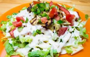 #chicken, #grill, #cucumber, #salad, #pepper