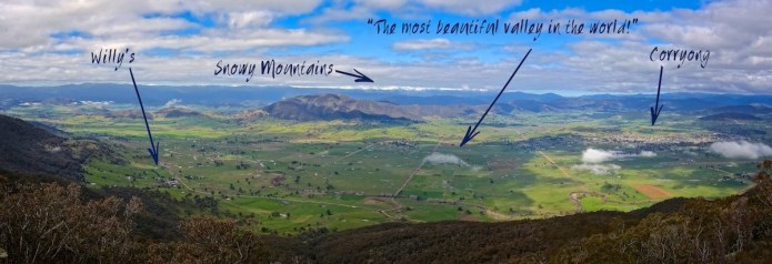 Willy's Panorama with Snowy Mountains and Corryong