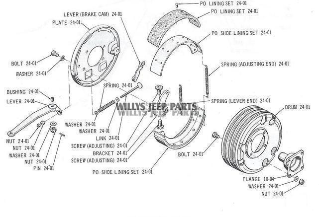 Transfer Case Mounted Hand Brake Parts
