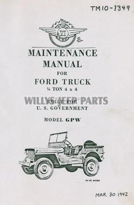 Military Jeep Manuals for the MA/MB and Ford GP/GPW