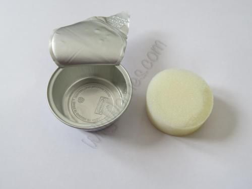 Picture of a Protected® F-5 Gel Contraceptive Sponge, used by women to prevent pregnancy - impregnated with spermicide to kill sperm and protect against pregnancy