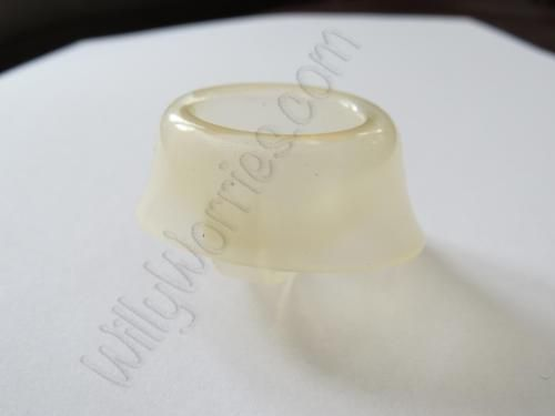 Femcap photograph - used by a woman to cover the cervix (discontinued now, though)